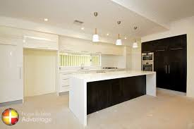 galley style kitchen with island galley style kitchen with island bench with waterfall ends
