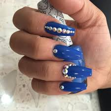 coffin shaped nails with rhinestones yelp