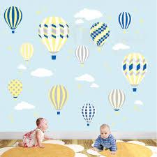 nursery wall art enchanted interiors deluxe hot air balloons nursery wall stickers