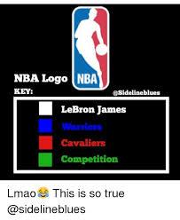 Nba Logo Meme - nba logo nba key lebron james warriors cavaliers competition lmao