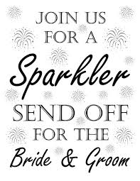 wedding signs template wedding sparkler sign for send offs free printable