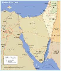 Map Of Middle East And Africa by Political Map Of Sinai Peninsula Nations Online Project