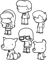 basic scooby doo chibi characters coloring pages wecoloringpage