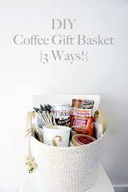 coffee gift baskets vie diy coffee gift basket 3 ways vie