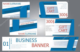 gift card business templates banner design gift cards business cards set stock