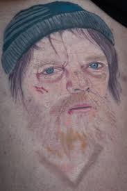 drunk student gets homeless ian beale tattooed on her leg