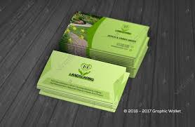 Landscape Business Cards Design Business Cards Graphic Wallet