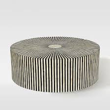 West Elm Etched Granite Coffee Table Stripe Inlay Coffee Table Westelm Too Big For My Space At 40