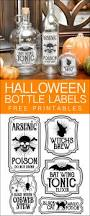 halloween bottle labels free printables potions labels