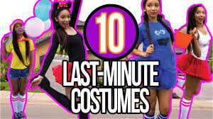 diy last minute halloween costumes for teens 2016 youtube