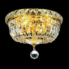 Chandelier Removal Elegant Lighting Crystal Chandelier Gold Flush Mount Light Free