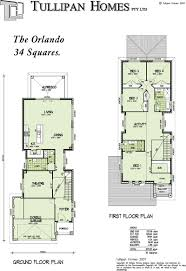 Two Storey Residential Floor Plan Double Storey Narrow Home Design Tullipan Homes 2073000262 Orlando