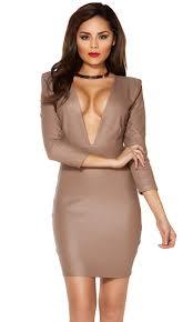 plunging neckline plunging neckline dress leather plunging