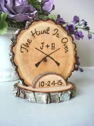 rustic wedding cake topper hunting hunt wood burned customized