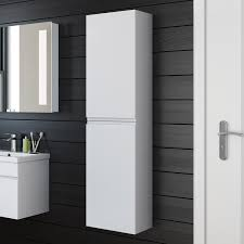 bathroom cabinet 1400x350 white storage wall mounted hung side