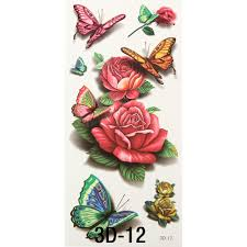 1pc 3d chest sleeve stickers glitter temporary flash