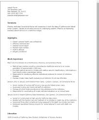 Resume For A Nursing Assistant Professional Correctional Nurse Templates To Showcase Your Talent