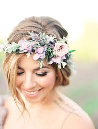 flower headpiece ethereal lavender field wedding inspiration lavender fields