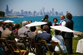 outdoor wedding venues chicago real weddings and ian s chicago wedding on the lake