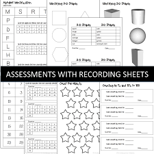 beginning of the year activities and assessments with a freebie
