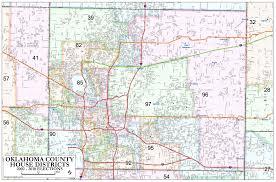 Map Of Oklahoma Counties Oklahoma County U2013 House Districts Metro Area Map U2013 Okg News