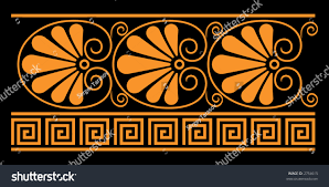 Design For Vase Painting Ancient Greek Decorative Elements They Were Stock Vector 2754615