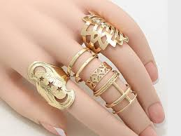 gold knuckle rings images 5 pcs cutout leaf star knuckle ring set jewel addicts jpg
