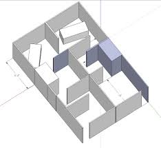 static using google sketchup pro to layout garage maze