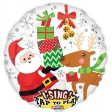 singing balloon christmas singing balloon sing a tune santa balloon