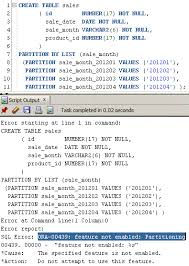 Create Table Oracle Sql How To Use Oracle Table Partition