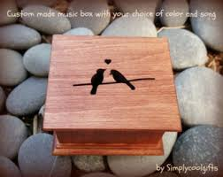 Engravable Music Box Pregnancy Announcement Stork Baby Music Box Wooden Music