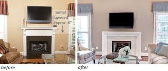 Fireplace Mantels For Tv by 5 Solutions For Tv Challenged Spaces Tamara Heather Interior Design