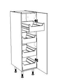 bloc tiroir cuisine armoire pour cuisine aménagée équipée de 4 blocs tiroirs à l