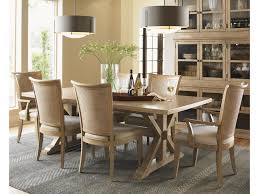 lexington monterey sands seven piece walnut creek dining table and