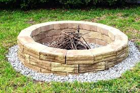 Building Outdoor Fireplace With Cinder Blocks by Building An Outdoor Fire Pit With Stones Building An Outside Fire