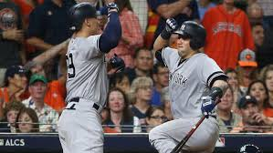 Aaron Judge Gary Sanchez Struggle In Game 1 Loss To Indians Newsday - judge yankees excited for future sny