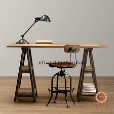 Stylish Computer Desk Country Old Retro Wood Computer Desk Work A Stylish Dining Table