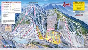 New England Area Map by Cannon Mountain Skimap Org