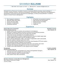Best Resume Format For New College Graduate by Best Hr Coordinator Resume Example Livecareer