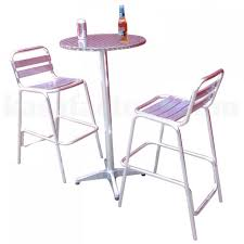 Aluminium Bar Table Set New Pro Commercial Series Aluminium High Bar Table And Chairs Set