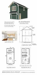 Car Plans by Garage Plans Craftsman Style One Car Two Story Garage With
