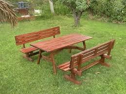 panchine legno tavolo da giardino in legno con panchine separate e schienale 8 2