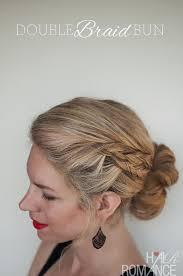 howtododoughnut plait in hair double braid bun hairstyle tutorial hair romance