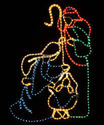 Outdoor Lit Nativity Scene by Christmas Light Nativity Scene Holy Family Products