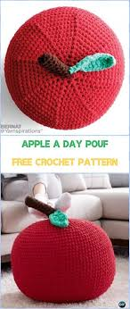 Crochet Ottoman Pattern Crochet Poufs Ottoman Free Patterns Crochet Apple Poufs And