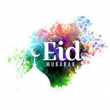 Greeting Card Designs Free Download Eid Mubarak Festival Greeting Card Design With Watercolor Effect