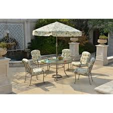 Mainstays Patio Furniture by Mainstays Willow Springs 6 Piece Patio Dining Set With Lazy Susan