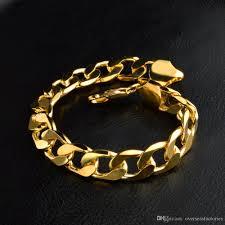 copper bracelet men images Discount 24k ywllow gold pure copper bracelet men women jewelry jpg