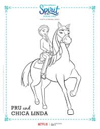 spirit riding free pru and chica linda coloring page mama likes this