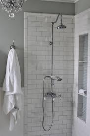 dazzling subway tile bathroom design in shower subway tile shower